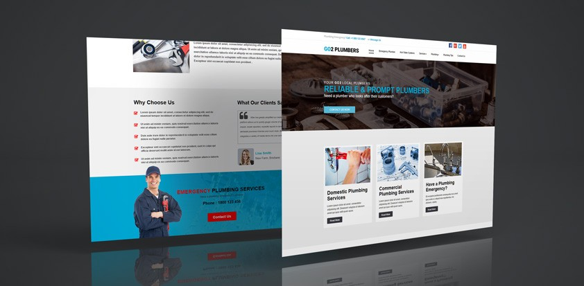 A new website template to help Plumbers get started online